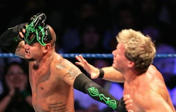 Rey Mysterio's mask falls off