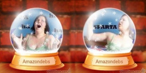 Amazondebs is not missing, she's just inside a snowglobe!