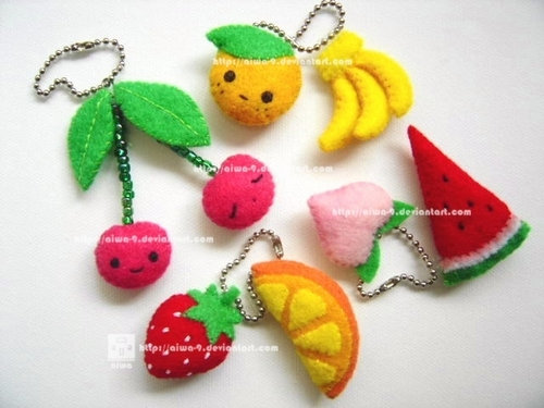 Fabulous Fruit,Keychains