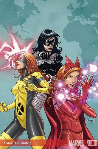 Jean Grey, Black Widdow, Scarlet Witch