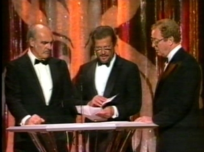 Michael Caine, Sean Connery and Roger Moore Presenting at Academy Awards