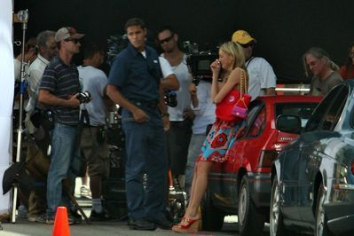 "Katie Cassidy on the ""Melrose Place"" set - August 10, 2009"