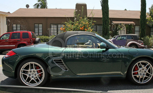 Robert Pattinson - out and about driving his new car