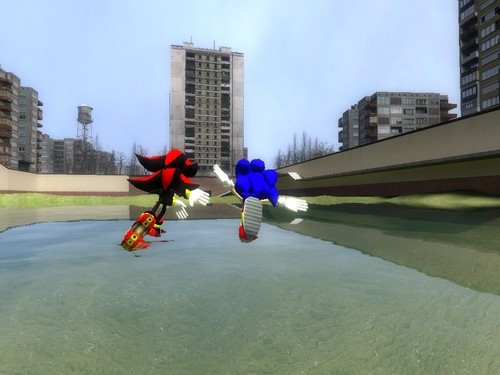 sonic and shadow raceing