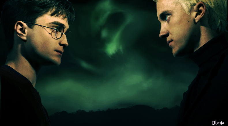 Image result for harry potter draco and harry