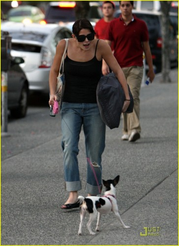 Ashley with her dog