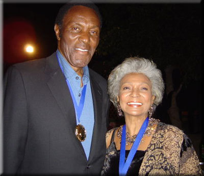 "Nichelle Nichols ""Uhura"" and Rafer Jonhson"