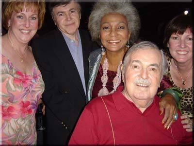 Nichelle Nichols, Walter Koenig, Jimmy Doohan and his daughters