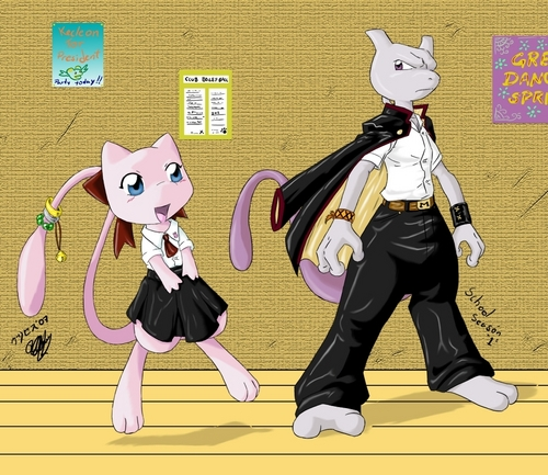 Mew and Mewtwo back to school