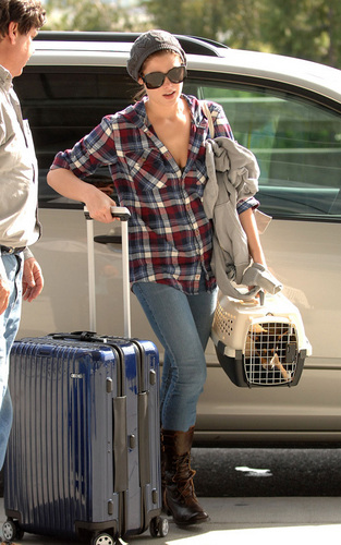 Ashley leaving Vancouver Airport
