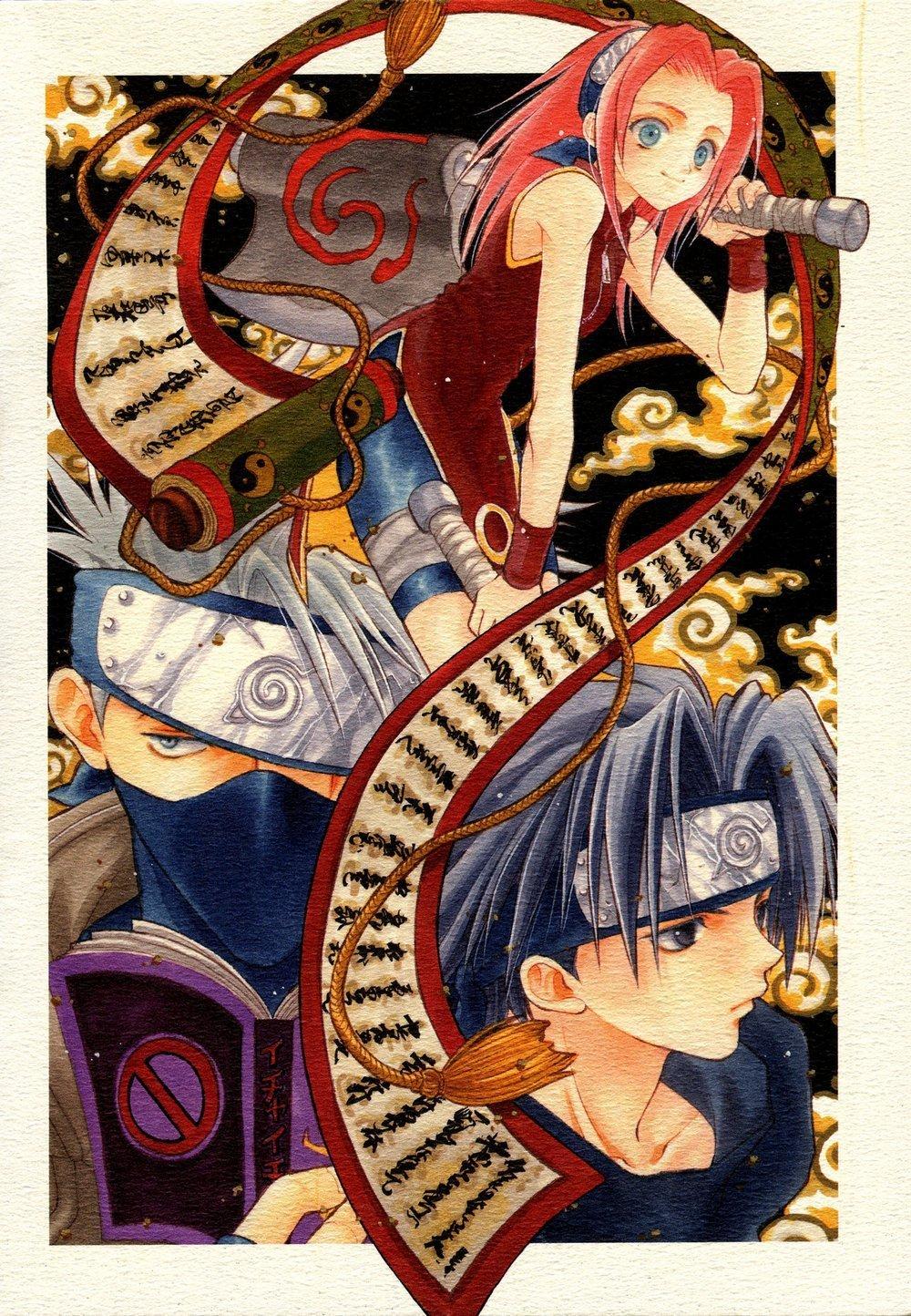 Sakura Kakashi and Sasuke naruto 7994649 1000 1444