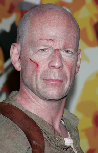 Wax Figure of Bruce Willis @ Madame Tussauds in Hollywood