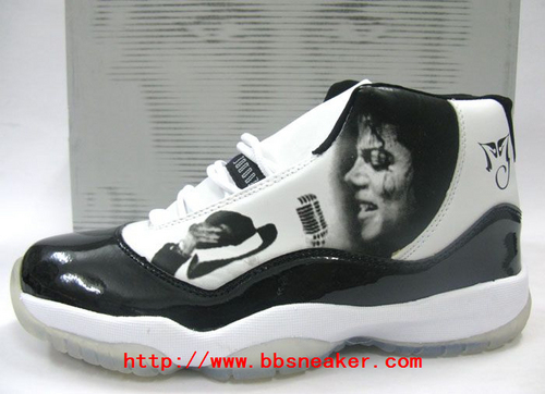 Michael Jackson Memorial black-and-white jordan sneakers