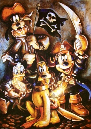 Mickey and friends Pirates