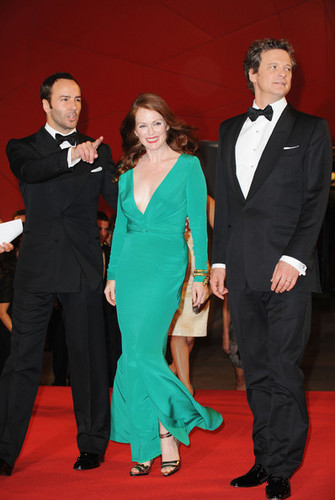 Colin Firth on the Red Carpet at 66th Venice Film Festival