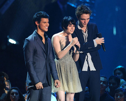 Kristen, Taylor and Rob at the VMA's