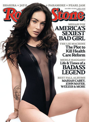 Megan raposa on the Cover of the October 2009 Issue of Rolling Stone Magazine
