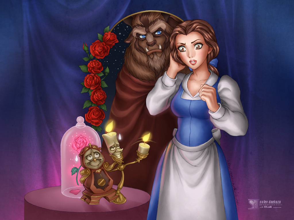 Beauty And The Beast Disney Wallpaper 8235847 Fanpop