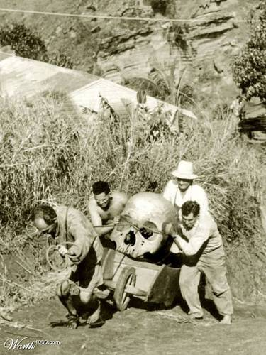 giant skeletons found