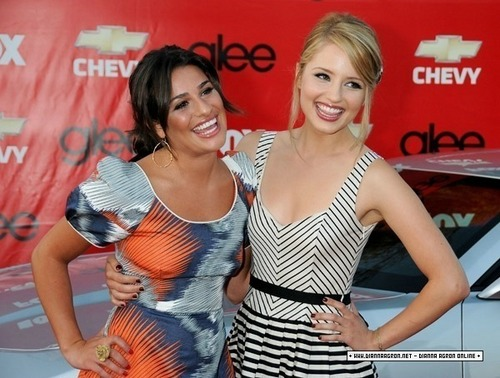 Dianna_glee premier party