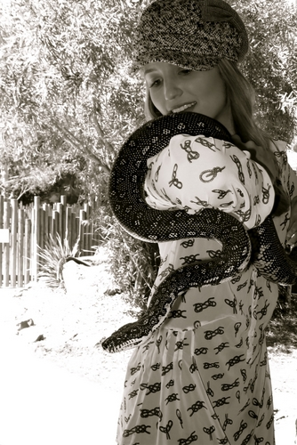 dianna with a snake