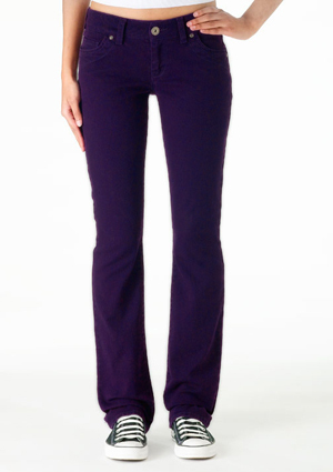 Morgan Low-Rise Skinny Jean - Dark Purple