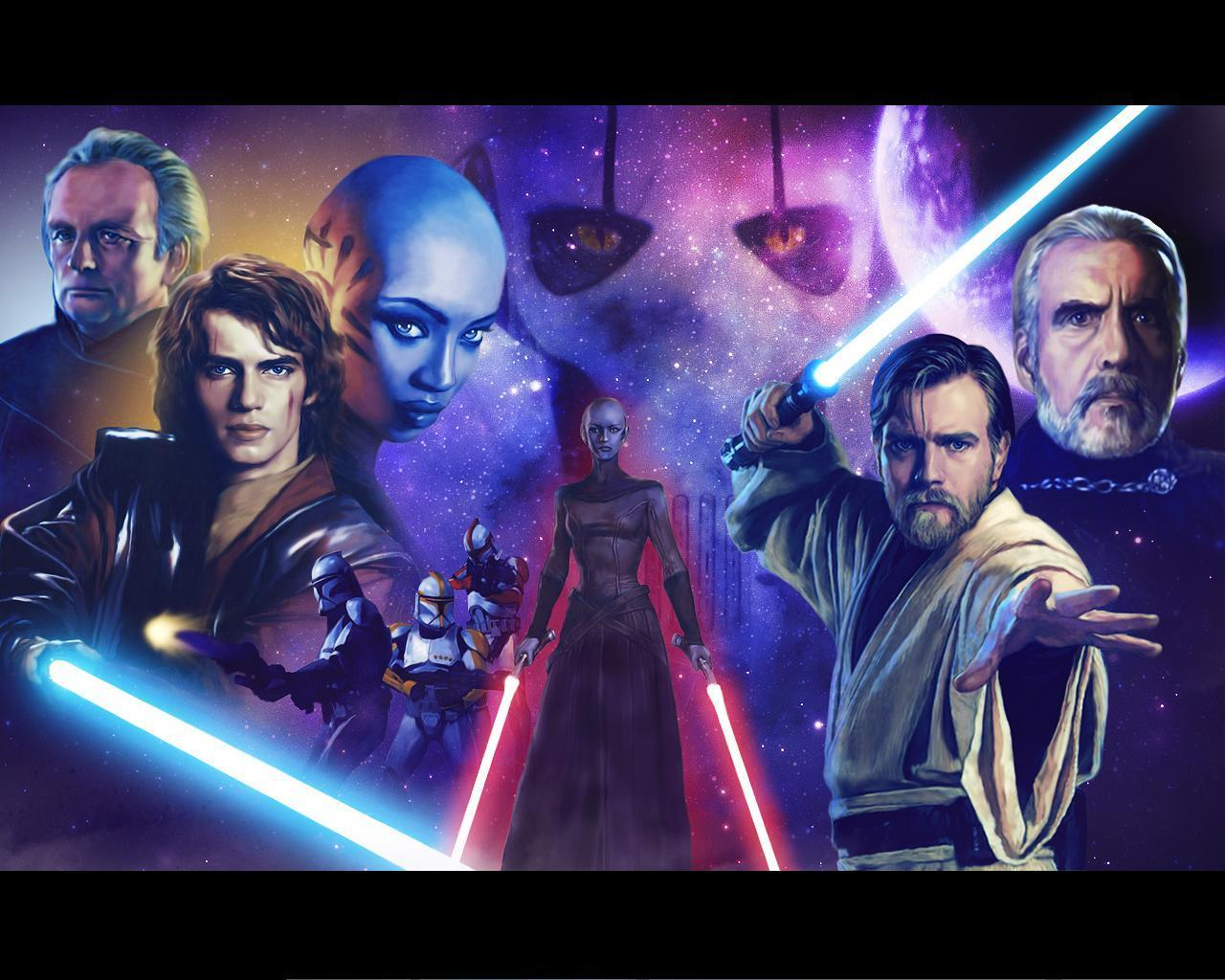 Clone Wars Painting Star Wars Clone Wars Wallpaper 8518943